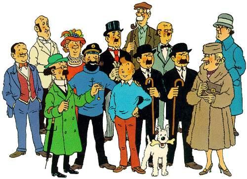 Tintin e personagens